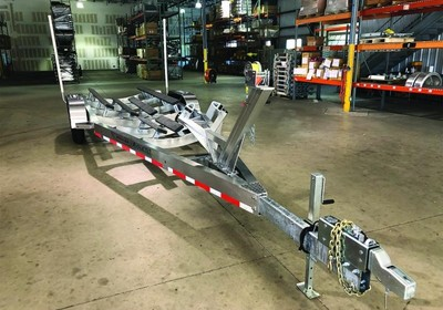 Magic Tilt Trailers keep boats on land on the move