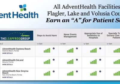 AdventHealth Earns an 'A' for Patient Safety